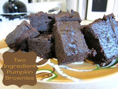 Two Ingredient Pumpkin Brownies - Fail My Favorite Food, Favorite Recipes, Pumpkin Brownies, Healthier Desserts, Fall Recipes, Nom Nom, Sisters, Sweets, Apple