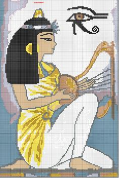 ägyptisch – heike yıldırım – Join the world of pin Cross Stitching, Cross Stitch Embroidery, Embroidery Patterns, Alpha Patterns, Loom Patterns, Cross Stitch Designs, Cross Stitch Patterns, Egyptian Crafts, Cross Stitch Numbers