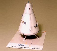 PAPERMAU: Reusable Rocket Vehicle Paper Model In 1/32 Scale - by Ralph Currell