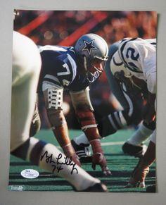 Bob Lilly Signed 8x10 Photo AUTO JSA COA Dallas Cowboys HOF