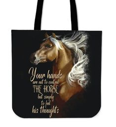 Your Hands Not Control Horse Tote Bags Printed Tote Bags, Cotton Tote Bags, Reusable Tote Bags, Equine Quotes, Gifts For Horse Lovers, Bag Making, Equestrian, Ranch, Cool Things To Buy