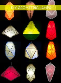 How To: Build Modular Geometric Lamps From Paper » Curbly | DIY Design Community