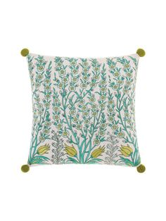 ISTANBUL BED LINEN LIME 45 X 45CM CUSHION