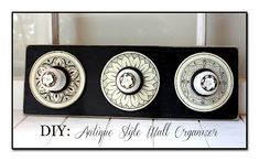 DIY: Antique Style Wall Organizer - The Graphics Fairy