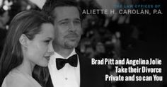 Brad Pitt and Angelina Jolie Take their Divorce Private and so can You