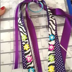 Relay for life hair bow - fundraiser... Cute idea. And definitely going to be making Plexus League ribbons for our team!