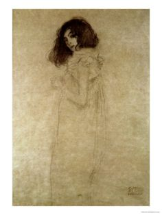 Portrait of a Young Woman, 1896-97, By Gustav Klimt