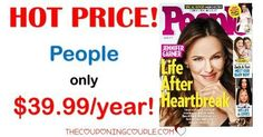 BEST DEAL AROUND! People Magazine for only $39.99 per year! That is only $0.80 per issue! Save over $350 a year off the cover price! What a great gift idea!  Click the link below to get all of the details ► http://www.thecouponingcouple.com/people-magazine-only-54-99year-reg-399-00/ #Coupons #Couponing #CouponCommunity  Visit us at http://www.thecouponingcouple.com for more great posts!
