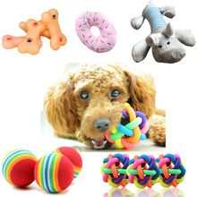 1pcs Popular Puppy Dog Toys Ball For Dogs Squeak Toys Pet Ball Rainbow Color Chew Toys Play For Teeth Training Pet Accessories(China) #petdog #petdogs #petdoglove #petdoglife #petdoglover