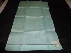 Vintage NOS Irish Linen Small Hand/Guest Towel.   Light Mint Green #Unbranded