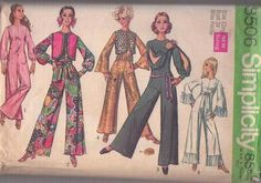 Simplicity Sewing Patterns, Vintage Sewing Patterns, Clothing Patterns, Dress Patterns, Petite Jumpsuit, Balmain Dress, Vintage Jumpsuit, Jumpsuit Pattern, Jumpsuit With Sleeves