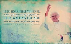 "JPII ""Seeking Jesus"" By: Cassie Pease Designs"