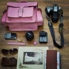 Pink Camera bag  by Grafea