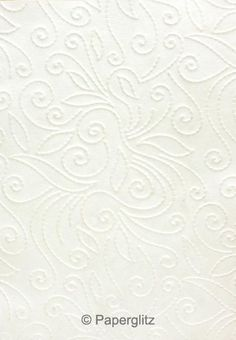 Handmade Embossed Paper - Elyse White Pearl A4 Sheets