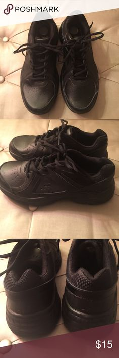 NFC: Black Sneakers Basic All Black Sneakers with Energy Form insole.  Worn twice. Good condition bcg Shoes Sneakers