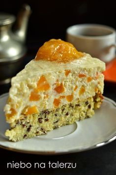 Polish Desserts, Polish Recipes, No Bake Desserts, Delicious Desserts, Yummy Food, Cooking Cake, Cooking Recipes, Muffins Frosting, Sweet Recipes