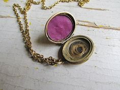 Antique Victorian Mourning Jewelry/ Hair Locket by LUXXORVintage, $128.00