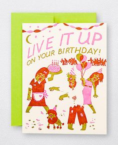 Zombie Birthday - new neon bday card from Hello!Lucky