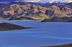 Photo taken on September 1, 2015 shows an aerial view of Yamzho Yumco Lake in Shannan Prefecture, in southwest China's Tibet Autonomous Region.