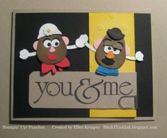 "9/15/2010; EllenKemper at ""Blinkin', Thinkin' "" blog using the SU owl punch for Mr & Mrs PH    ;-)"