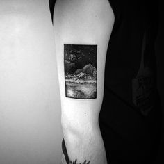 You can pack a whole world in a tiny space. | 33 Stunning Landscape Tattoos That Will Remind You Of Home