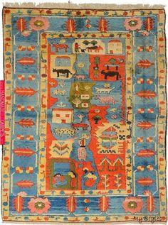 Oriental rug and Rugs on carpet+ Sisal Carpet, Rugs On Carpet, Hotel Carpet, Wall Carpet, Carpet Squares, Art Chinois, Art Japonais, Textiles, Blue Carpet