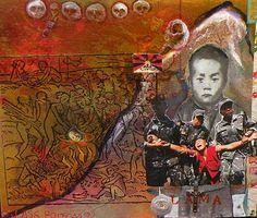 Jane Ash Poitras - Tibetan Cavalry Native American Artists, Canadian Art, Aboriginal Art, Photomontage, Wood Paneling, Nativity, Ash, Art Gallery, Fine Art