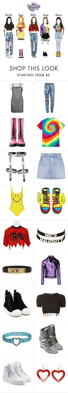 """""""[Comeback Stage] 아리아(ARIA) - Do You / M COUNTDOWN"""" by ariaofficial ❤ liked on Polyvore featuring Boohoo, VFiles, Ashish, GRLFRND, Moschino, adidas, Jeremy Scott, Charlotte Russe, Levi's and Boutique Moschino"""