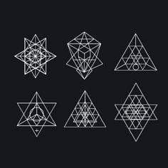 Sacred geometry. symbols and elements on Behance