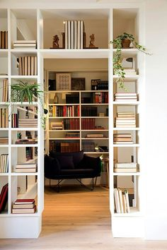 pass through bookshelves