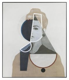 Matthias Bitzer Gestalt und Achse, 2015 Acrylic and ink on canvas 79 × 68 in 203 × 173 cm Photo: Jens Ziehe, Berlin Courtesy of the Artist and Almine Rech Gallery Love Painting, Figure Painting, Images D'art, Deco Paint, Contemporary Paintings, Oeuvre D'art, Figurative Art, Art Pictures, Textile Art