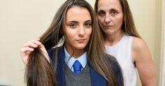 """this is getting bloody ridiculous Kelly Carney says her daughter Faye, 15, was banned from lessons on her first day of year 11 over the """"subtle"""" £60 hair dye job"""