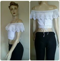 By Mariza Crochet Designer: Blusas Crochet Ciganinha ...