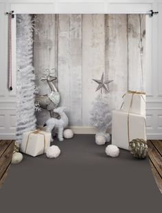 Luxe Silver Christmas Winter Photography Studio Backdrop with Gray Floor - Family christmas pictures Christmas Photo Booth, Christmas Backdrops, Christmas Minis, Silver Christmas, Photobooth Backdrop Christmas, Christmas Stars, Family Christmas, Merry Christmas, Photography Props Kids