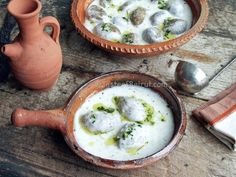 This is one of the best (if not the best) kibbeh dishes; we grew up with it, with my grandmother patiently coring the hollow kibbeh balls and stirring the yogurt till thickened. The final kick of f...