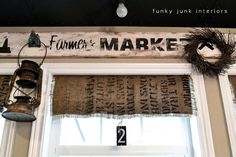 My $7.00 burlap coffee bean sack window shades | Funky Junk InteriorsFunky Junk Interiors