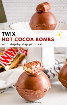 Hot Chocolate Gifts, Chocolate Covered Treats, Christmas Hot Chocolate, Chocolate Spoons, Homemade Hot Chocolate, Chocolate Bomb, Hot Chocolate Bars, Hot Chocolate Recipes, Homemade Food Gifts