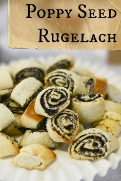 Poppy Seed Rugelach Recipe on Yummly Rugelach Cookie Recipe, Rugelach Cookies, Sweets Recipes, Cookie Recipes, Poppy Seed Recipes, Poppy Seed Filling, Healthy Christmas Cookies, Delicious Desserts, Yummy Food