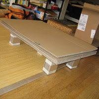 cardboard coffee table