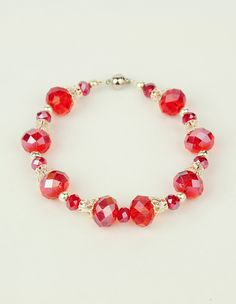 Glass Bracelets with Magnetic Clasps