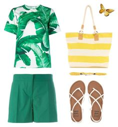 """summer time"" by yablondy ❤ liked on Polyvore featuring Vanessa Bruno, Billabong, Dolce&Gabbana and Blugirl"