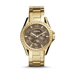 Fossil Riley Multifunction Stainless Steel Watch - Gold -Tone