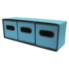 Room essentials 3 drawer fabric sided cart blue opens in a for Small room essentials