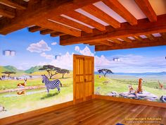 safari playroom mural