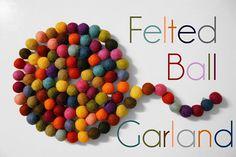 felted ball garland