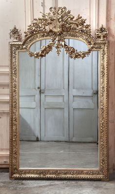 Antique French Louis XVI Gilded Mirror | Gilded Mirrors | Inessa Stewart's Antiques #antique #mirror