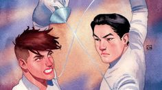 FENCE #1 introduces the impassioned rivalry between two male high school fencers. We're sure the tension is 100% about sports. Definitely.