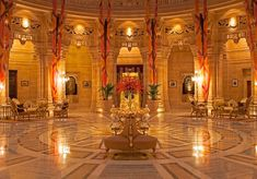 The Umaid Bhawan Palace in Jodhpur is part luxury hotel (managed by Taj Hotels), part museum, and is also one. Umaid Bhawan Palace, Mysore Palace, Most Luxurious Hotels, Thing 1, India Tour, Top Interior Designers, Jodhpur, Best Interior, Classic Interior