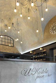 Fotoinšpirácia - stránka 2 Café Bar, Track Lighting, Ceiling Lights, Design, Home Decor, Studio, Decoration Home, Room Decor