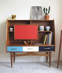 Vintage Retro Wooden Sideboard 50s 60s Vintage Cabinet storage Mod Mid Century…